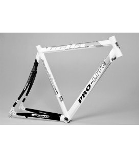 Cuadro Bella Plus (Race) Alu/Carbon Pro-Lite Rh 585 mm blanco
