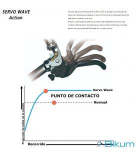 FRENO DELANTERO XT P.MOUNT P.RESINA C/ALETA 4P - Imagen 1