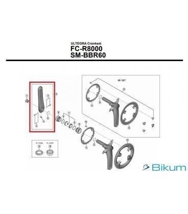 BIELA IZQUIERDA 175MM FC-R8000 HOLLOWTECH - Imagen 1