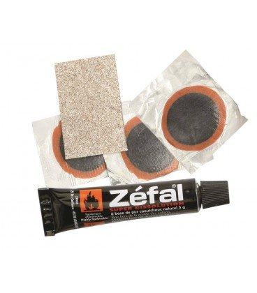 Set reparación Tubless Zefal 3 parches+ 5g solvente+papel d.lija